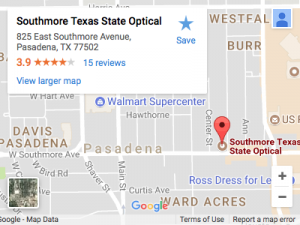 Southmore Texas State Optical Map